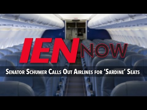 Senator Schumer Calls Out Airlines for 'Sardine' Seats