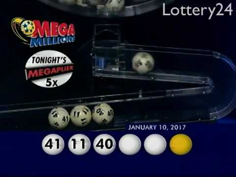 2017 01 10 Mega Millions Numbers and draw results