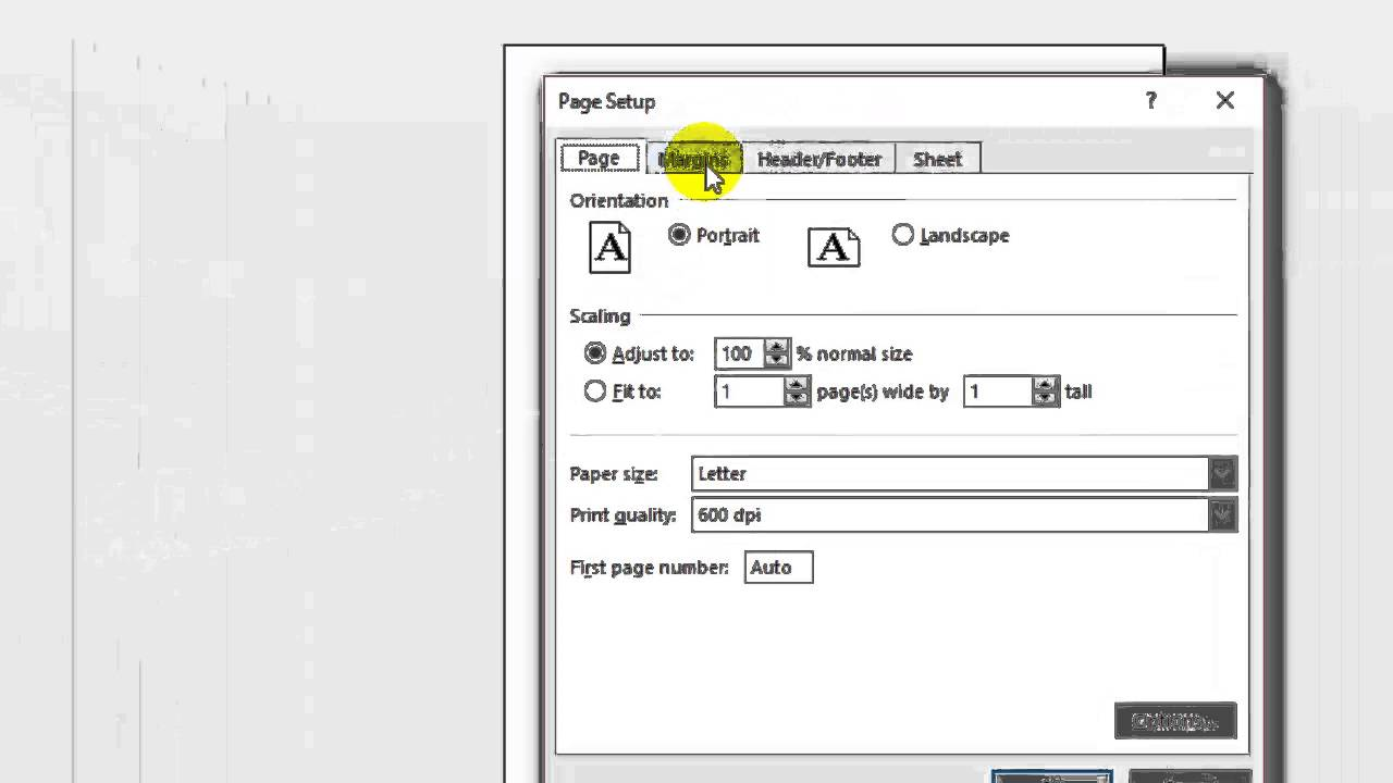 How to center worksheet for printing in Microsoft excel YouTube – Center Worksheet Excel