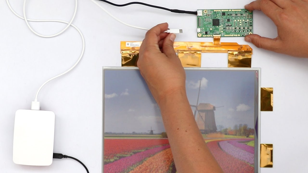 """13.3"""" ACeP FIRST FULL-COLOR ePaper Display (E Ink) – HOW TO RUN with TCON T1000 Board"""
