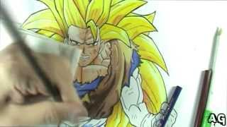AG #24 - DBZ Goku SSJ3 - [Lapis de cor] - Speed Painting