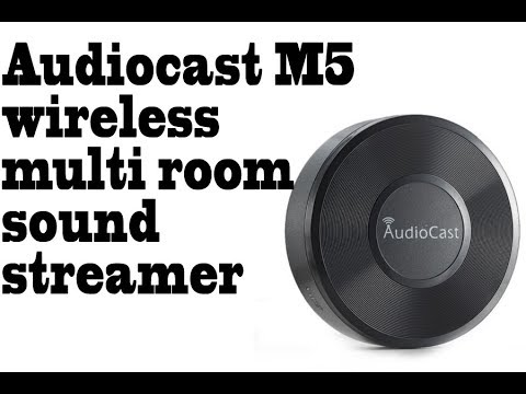 Audiocast M5 wireless multi room sound streamer. Stream all your music from phone to your speakers