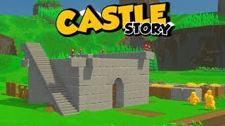 Castle Story 1.0 Gameplay Impressions Release! #2 - Building Our Square!