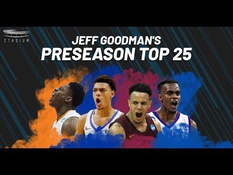 College basketball's way-too-early preseason top 25 teams for the 2019-20 season