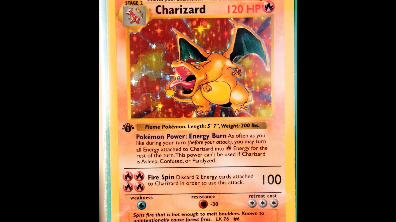 How much is worth my Base Set Charizard, Shadowless Charizard & 1st edition  Charizard?
