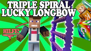 TRIPLE SPIRAL LUCKY LONGBOW - OP ★ LUCKY BLOCK BATTLE ★ Minecraft Lucky Blocks Mod | LPmitKev
