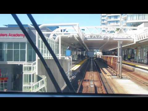 Sky train Expo  line skytrain New Westminster Station to Columbia  Station