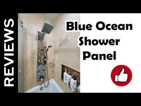 "Luxury Blue Ocean 52"" Shower Panel Tower Review and Installation Simple - Simple Elegant shower tower reviews Plan"