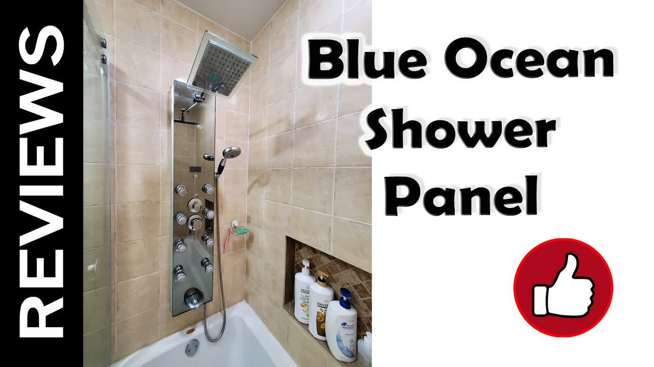 "Bathroom Shower Panels blue ocean 52"" shower panel tower - review and installation - youtube"