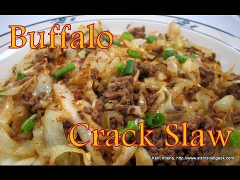 Atkins Diet Recipes: Low Carb Buffalo Crack Slaw (IF)