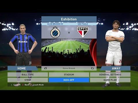 Club Brugge KV vs Sao Paulo, Jan Breydel Stadion, PES 2016, PRO EVOLUTION SOCCER 2016