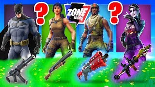 The *RANDOM* SKIN CHALLENGE In Fortnite Zone Wars!