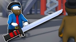 ARENA BATTLE WITH SWORDS? - Human Fall Flat Gameplay