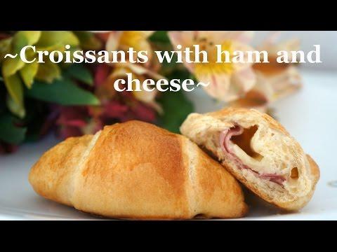 ~Croissants with ham and cheese~/ Круассаны с ветчиной и сыром