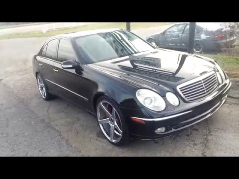 2003 mercedes benz e320 sport on 20s for sale youtube. Black Bedroom Furniture Sets. Home Design Ideas