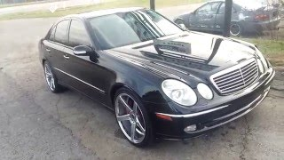 2003 mercedes benz e320 sport on 20s for sale