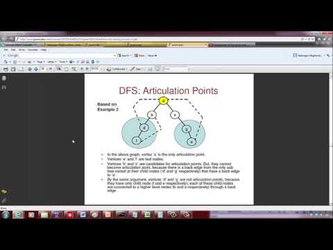 DFS Algorithm and Finding Articulation Points