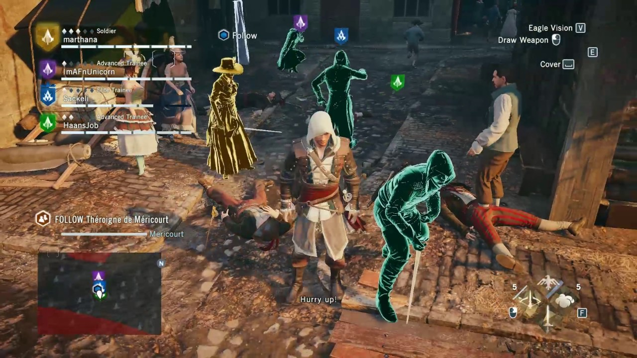 Assassin S Creed Unity Multiplayer Co Op Gameplay 2017 Youtube