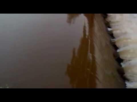 dead body on water fall