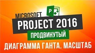 Бесплатный курс по Microsoft Project 2016 Продвинутый Урок 1 Диаграмма Ганта Изменение масштаба