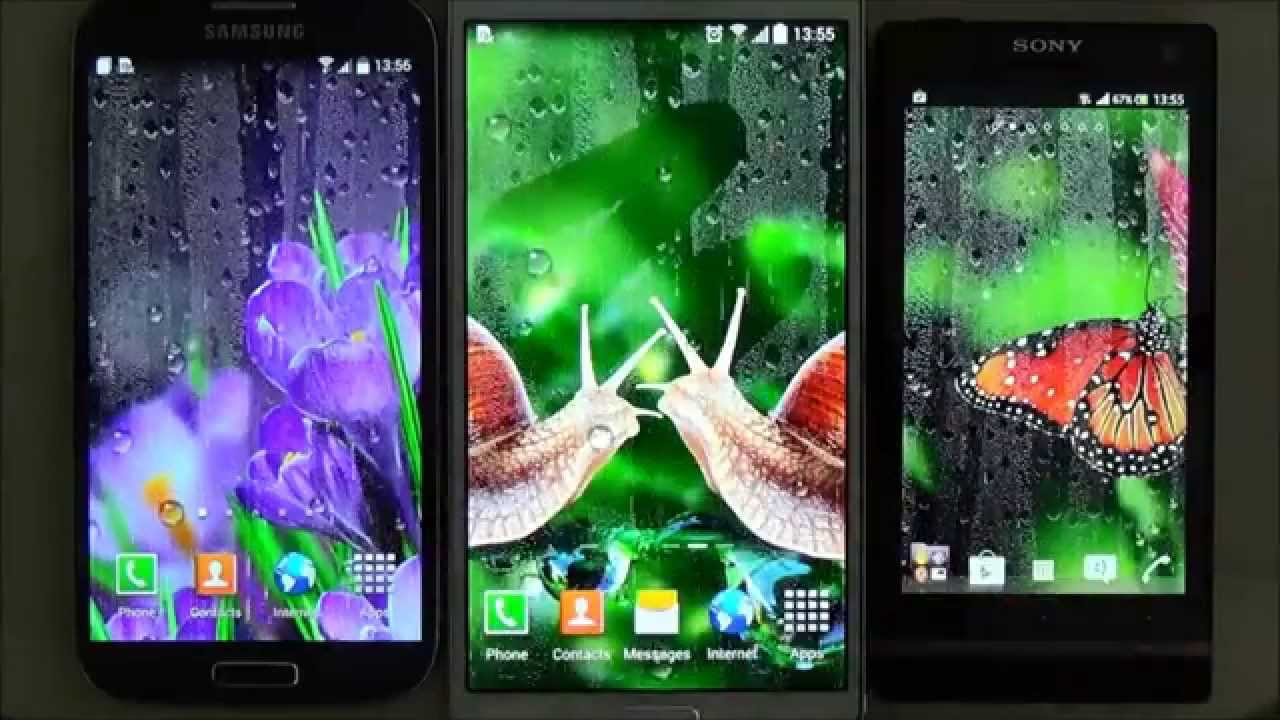 Free rain live wallpaper for Android phones and tablets - YouTube
