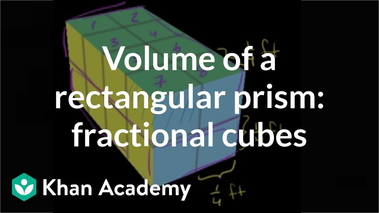 hight resolution of Volume with fractional cubes (video)   Khan Academy