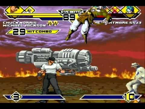 Chuck Norris and Michael Jackson vs 4 Cheap Characters MUGEN Battle Part 1!!!