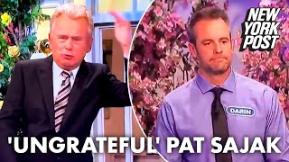 'Wheel of Fortune' host Pat Sajak takes heat for 'ungrateful' contestant crack | New York Post