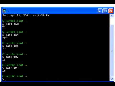 Unix Commands - 01 - Working with Date Commands