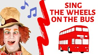 ???? The wheels on the bus, Nursery rhymes songs for kids & babies. Songs for kids with the Mad Hatter