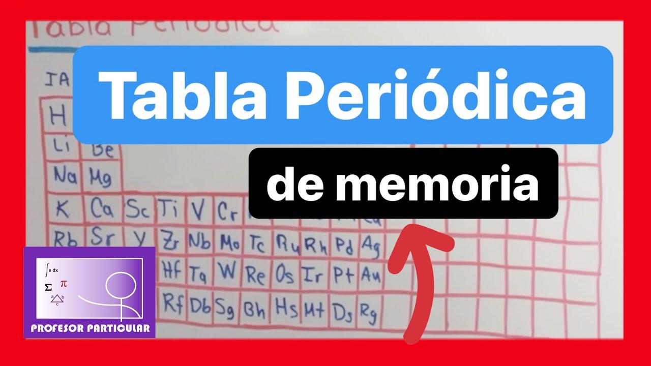 Como aprenderse la tabla peridica mtodo fcil qumica como aprenderse la tabla peridica mtodo fcil qumica inorgnica urtaz Images