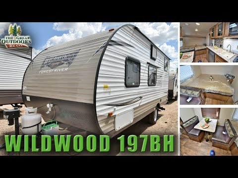 New Bunk Model Travel Trailer 2018 WILDWOOD 197BH RV Colorado Dealer