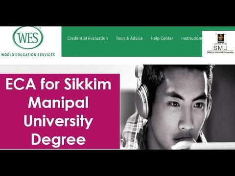 ECA of Sikkim Manipal University Degree For Canada