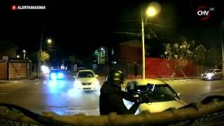 Persecución terminó con choque frontal de carabineros contra vehículo robado
