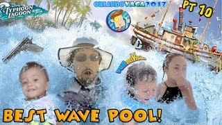 BEST WAVE POOL EVER! DISNEY EMPLOYEES ARE GANGSTER! SHOTS FIRED! Water Park Rides  FUNnel Summer