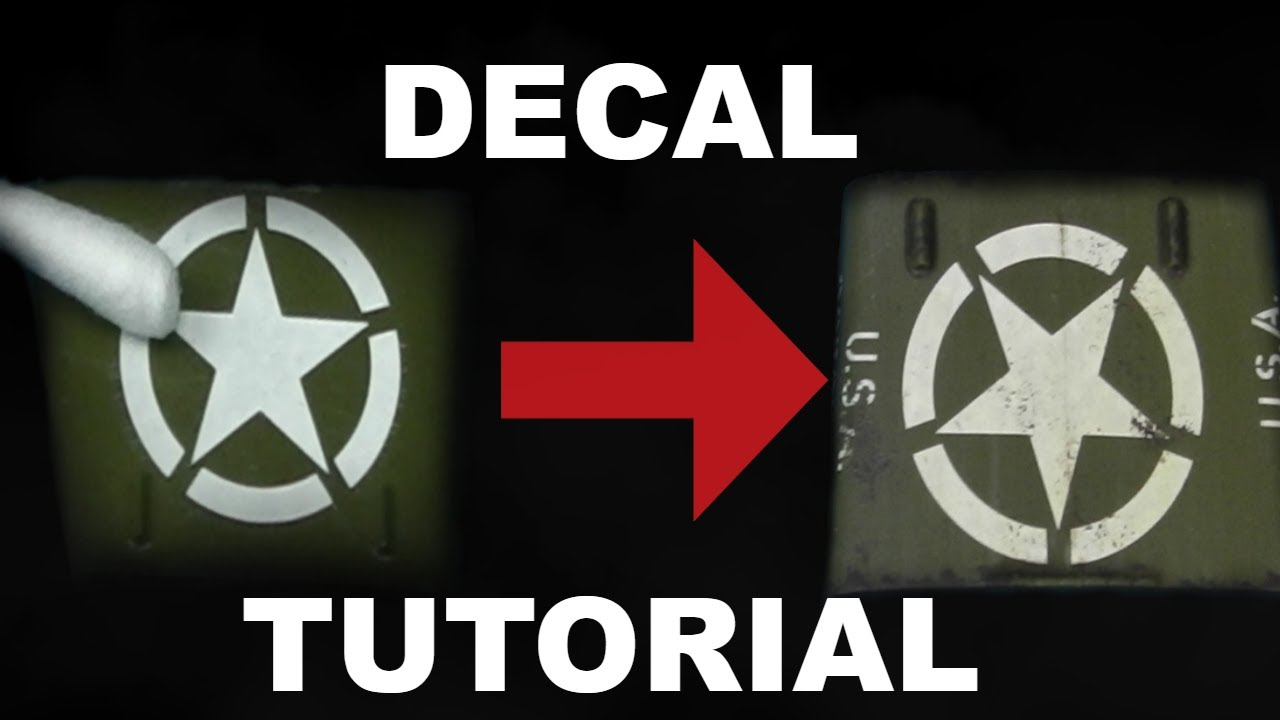 How to Apply Decals on Scale Models Tutorial