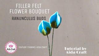 FILLER FOR FELT FLOWER BOUQUET RANUNCULUS BUDS CARA MEMBUAT FILLER BUKET FLANEL BUNGA RANUNCULUS
