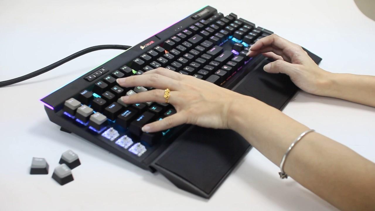 【原價屋】海盜船 Corsair k95 RGB Platinum 機械式鍵盤-銀軸! - YouTube