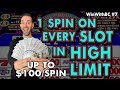 😵 One Spin on EVERY Slot Machine in HIGH LIMIT at Coushatta Casino