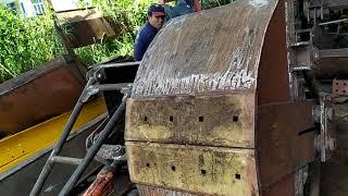 Chế gầu cạp cho máy đào thay gầu múc quá hay và rẻ tại vĩnh long.