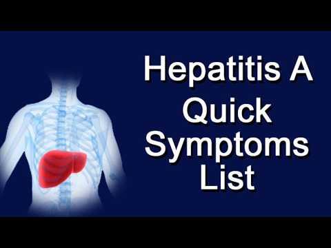 Hepatitis A Quick Symptoms List