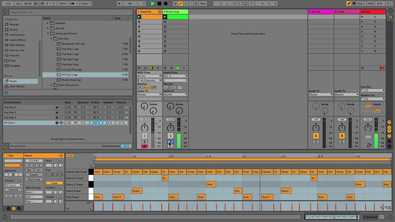 The User Library – Ableton