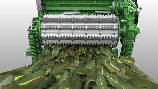 John Deere - Picadoras de forraje serie 9000 - Flujo de cultivo