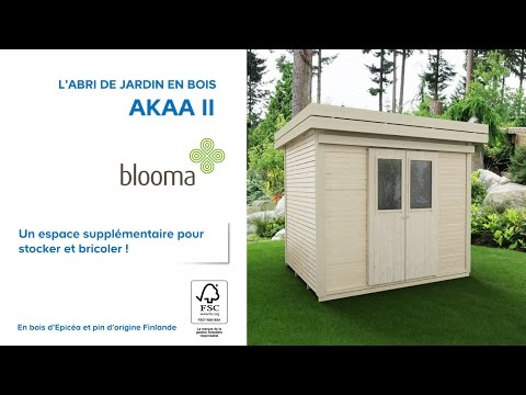 abri de jardin en bois akaa blooma 676229 castorama. Black Bedroom Furniture Sets. Home Design Ideas