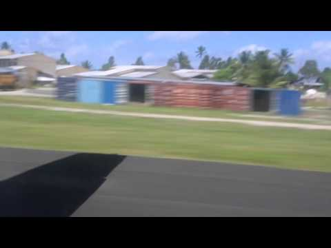 Tuvalu Funafuti Décollage aéroport Fiji airways / Tuvalu Funafuti Take off airport