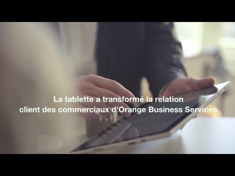 fr la tablette a transform la relation client des commerciaux d orange business services. Black Bedroom Furniture Sets. Home Design Ideas