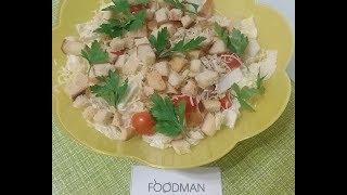 Салат из пекинской капусты с томатами черри и сухариками: рецепт от Foodman.club