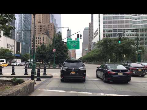 Drive 4K - World Trade Center District - New York City USA