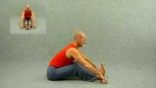 Видео уроки  по йоге. Наклон сидя
