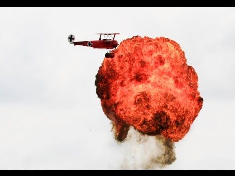 WW1 RC SCALE SCOUT / FIGHTER 23 MODELS + PYRO DISPLAY AT LMA RAF COSFORD - 2014